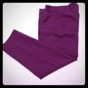 🥰J Crew skimmer pants in soft mulberry tone🥰